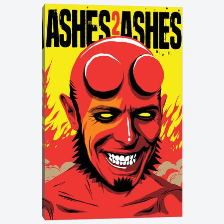Ashes To Ashes Canvas Print #BBY112} by Butcher Billy Art Print