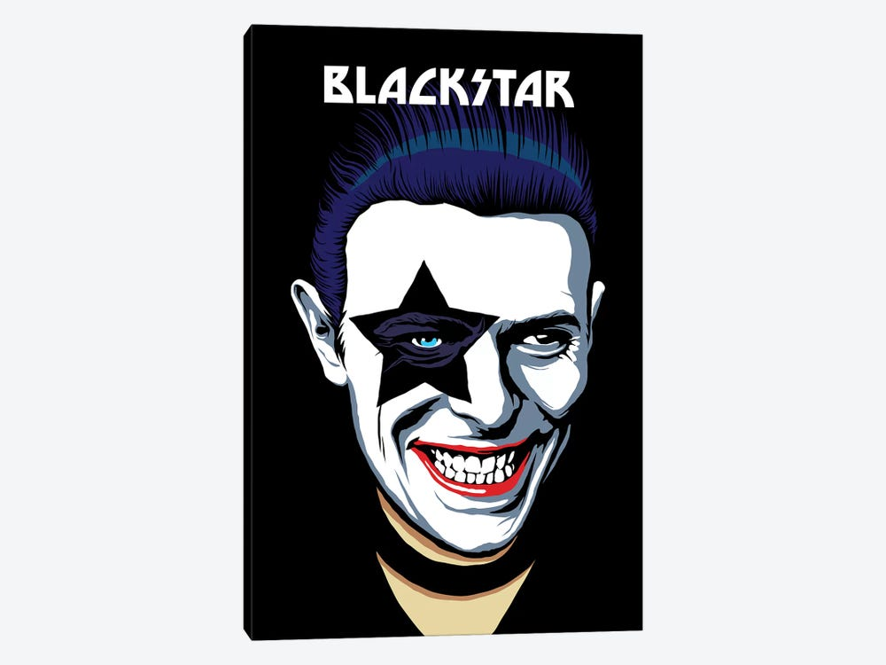 Black Star 1-piece Canvas Print