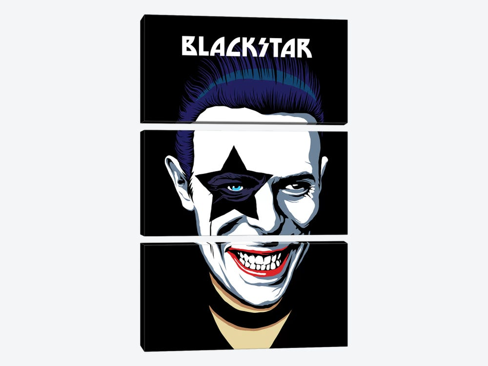 Black Star by Butcher Billy 3-piece Canvas Art Print