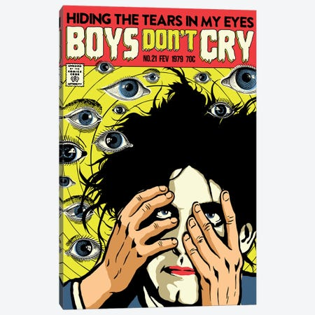 Boys Don't Cry Canvas Print #BBY114} by Butcher Billy Canvas Wall Art