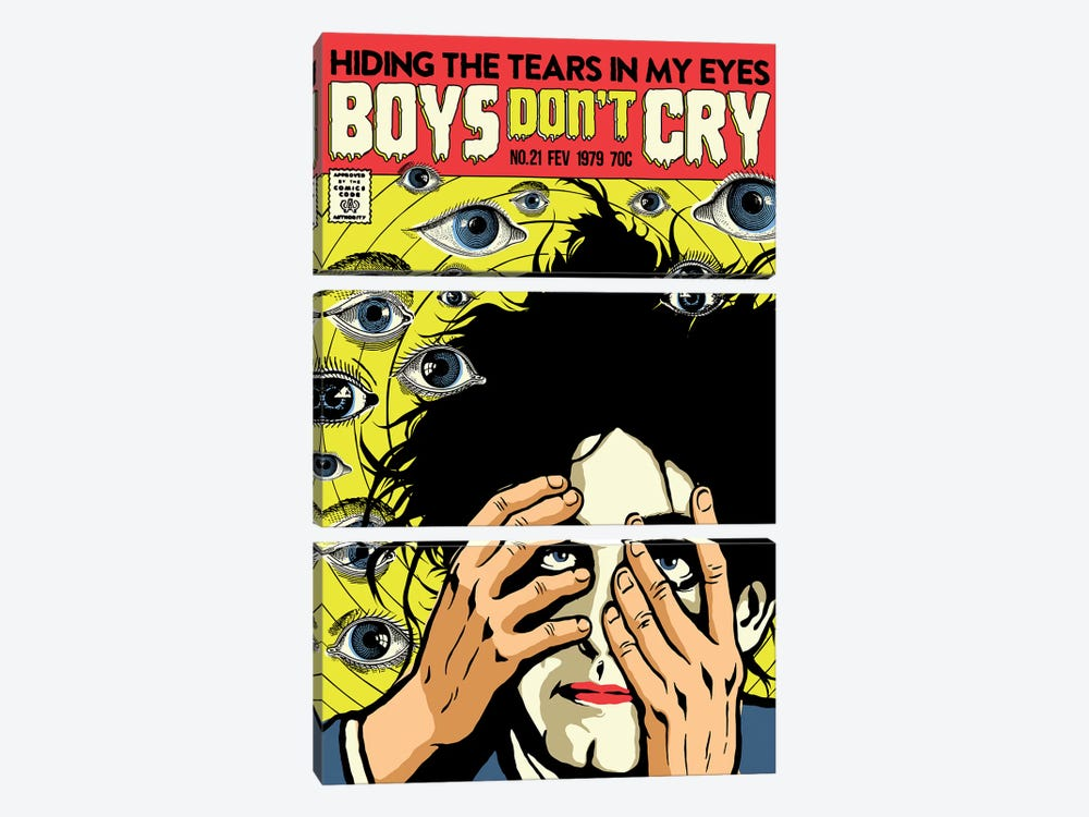 Boys Don't Cry by Butcher Billy 3-piece Canvas Art