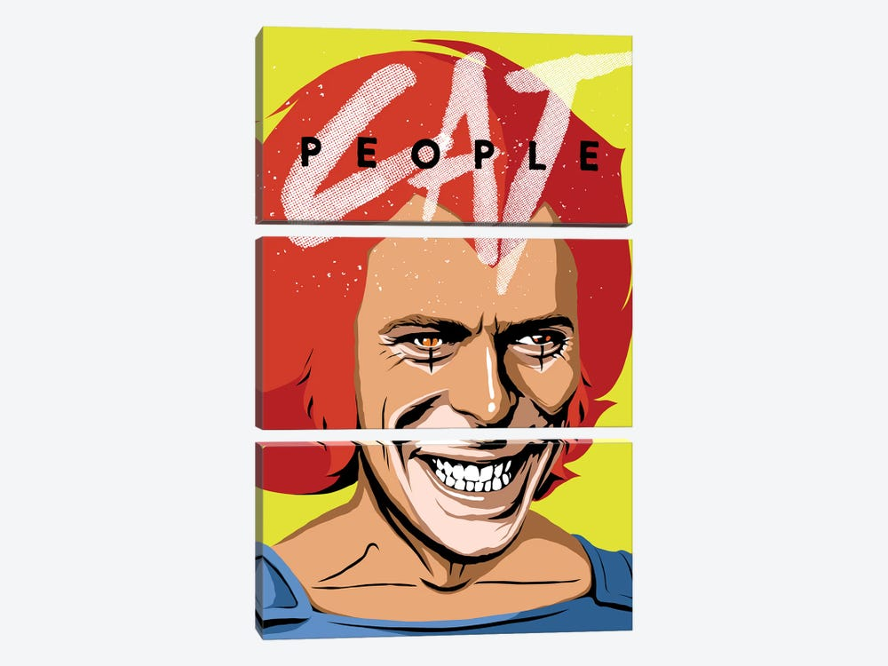 Cat People by Butcher Billy 3-piece Canvas Print