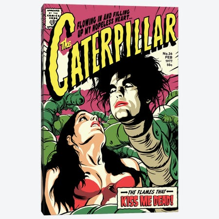 Caterpillar Canvas Print #BBY116} by Butcher Billy Canvas Wall Art