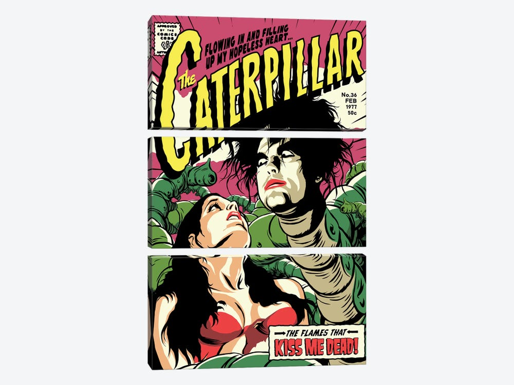 Caterpillar by Butcher Billy 3-piece Canvas Art
