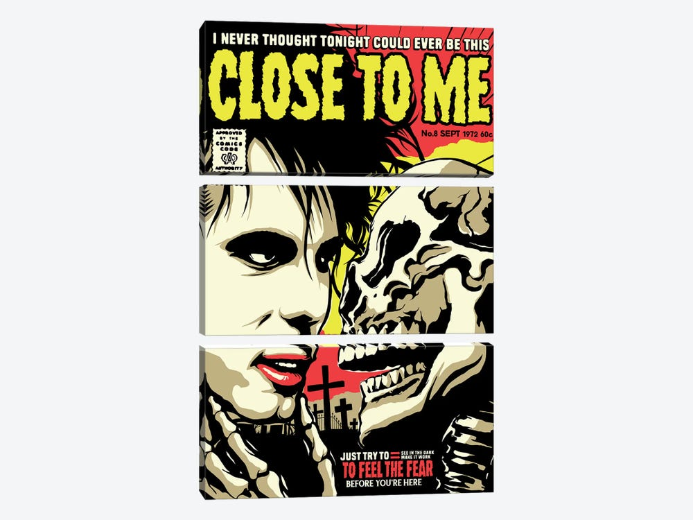 Close To Me by Butcher Billy 3-piece Canvas Art Print