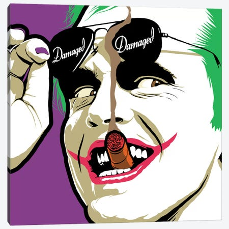 Damaged Sunglasses Canvas Print #BBY119} by Butcher Billy Art Print