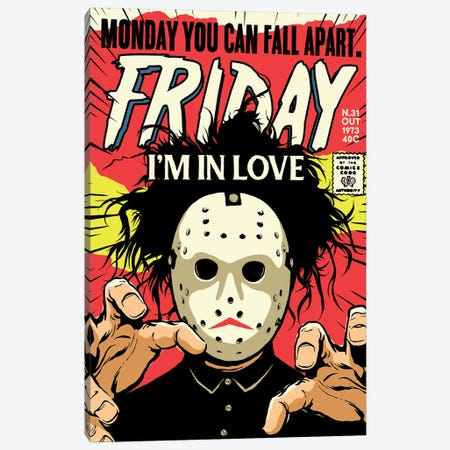 Friday Canvas Print #BBY125} by Butcher Billy Canvas Print