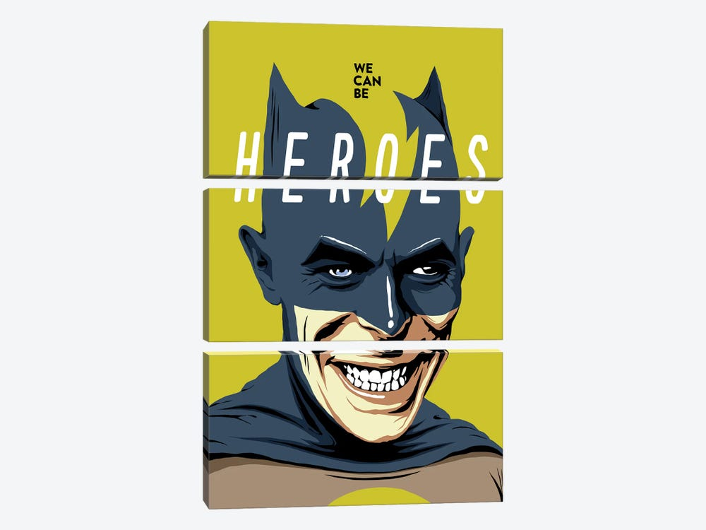Heroes by Butcher Billy 3-piece Canvas Art Print