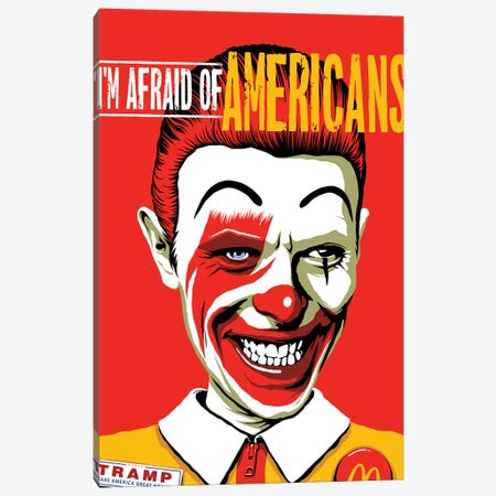 I'm Afraid Of Americans Canvas Print #BBY127} by Butcher Billy Canvas Print