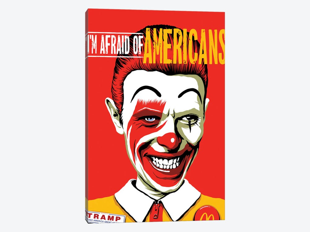I'm Afraid Of Americans by Butcher Billy 1-piece Canvas Art