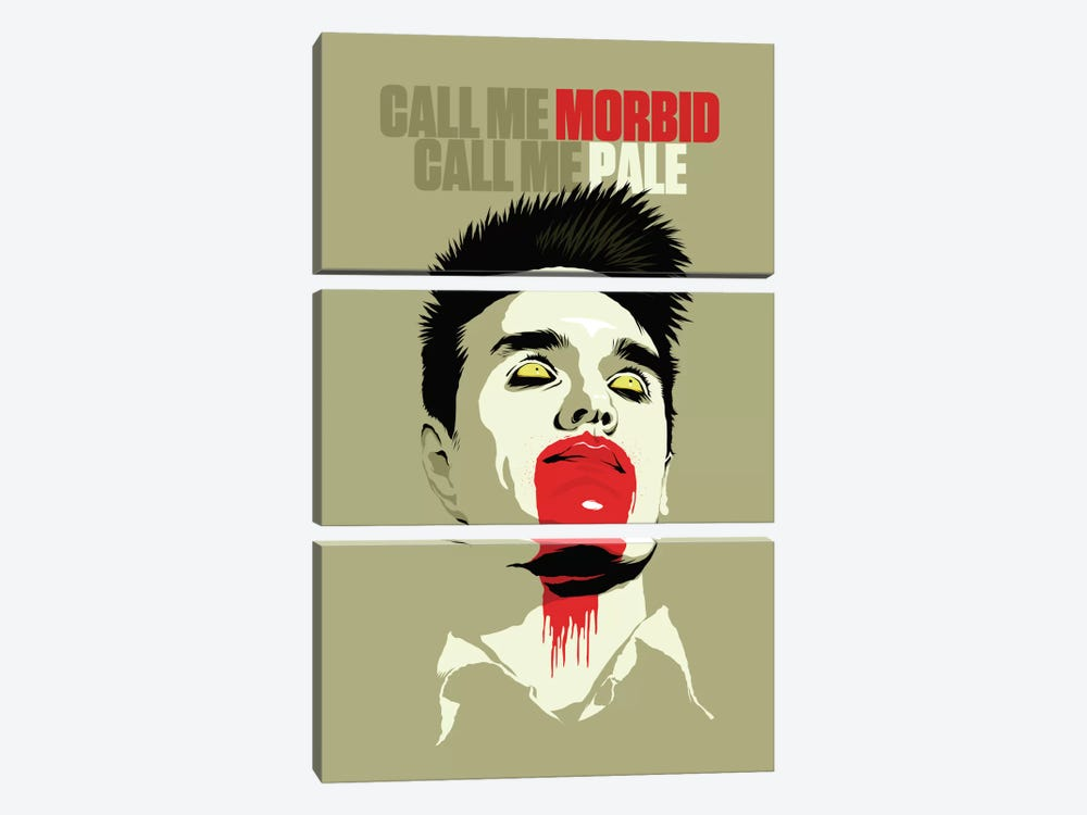 Call Me Morbid Call Me Pale by Butcher Billy 3-piece Canvas Wall Art
