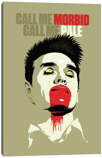 Call Me Morbid Call Me Pale Canvas Art Print