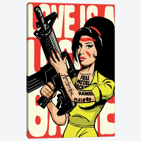 Love Is A Losing Game 3-Piece Canvas #BBY133} by Butcher Billy Art Print