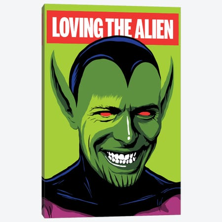 Loving The Alien Canvas Print #BBY134} by Butcher Billy Canvas Wall Art