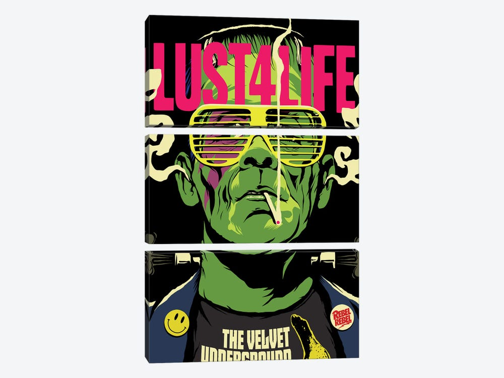 Lust 4 Life by Butcher Billy 3-piece Canvas Wall Art