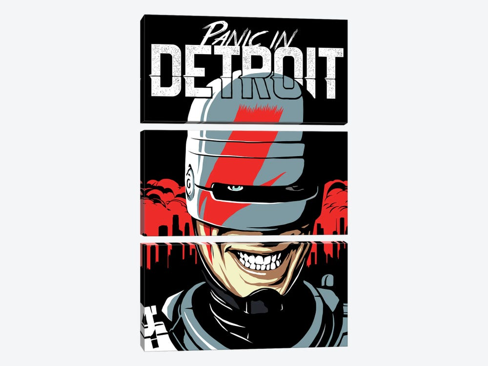Panic In Detroit by Butcher Billy 3-piece Canvas Print