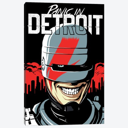 Panic In Detroit Canvas Print #BBY139} by Butcher Billy Canvas Art Print