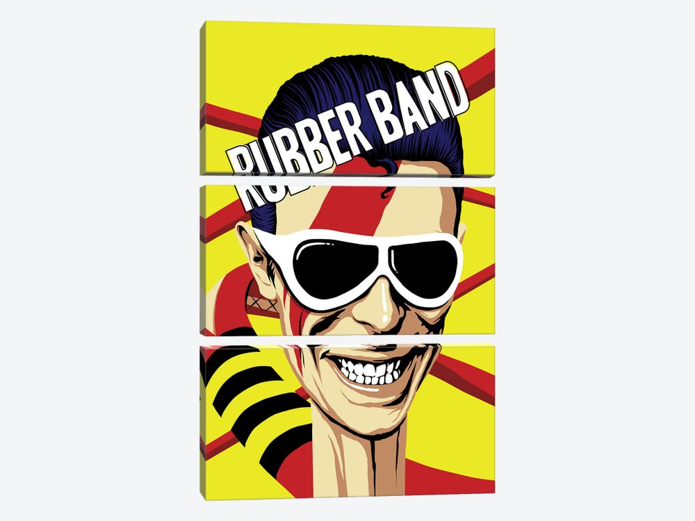 Rubber Band by Butcher Billy 3-piece Canvas Art Print