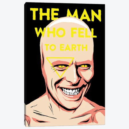 The Man Who Fell To Earth Canvas Print #BBY154} by Butcher Billy Canvas Artwork