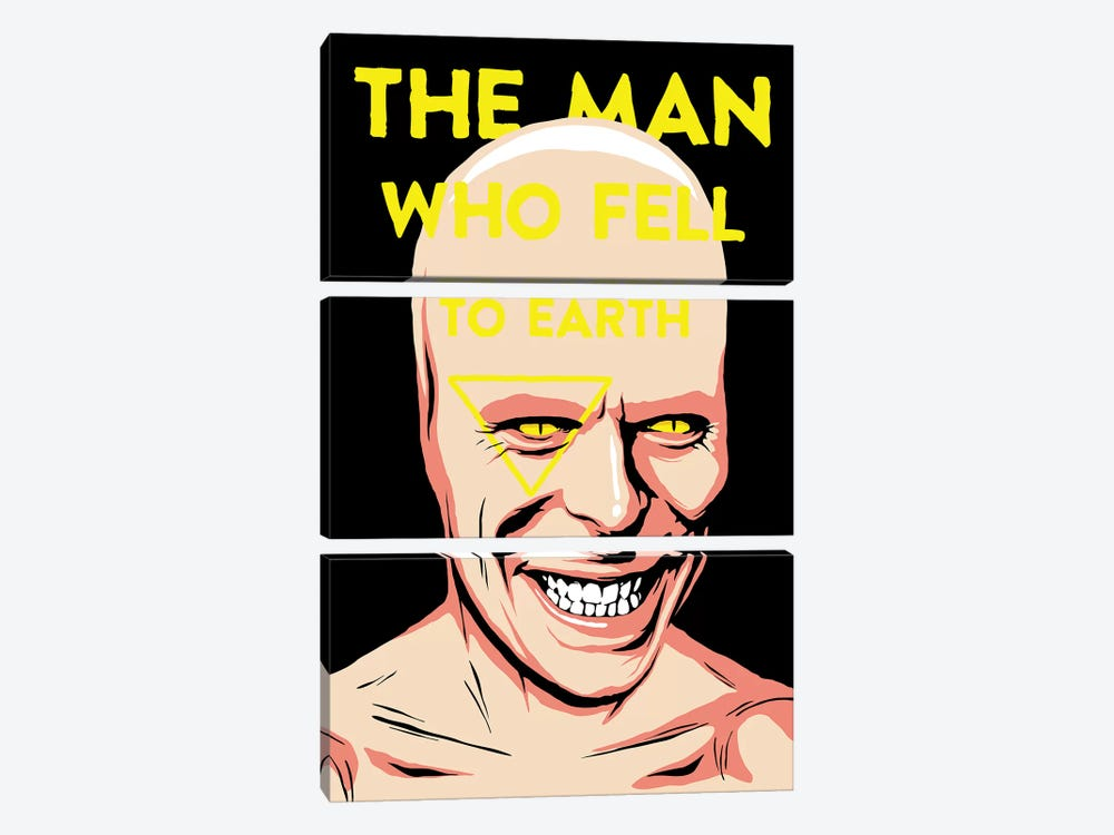 The Man Who Fell To Earth by Butcher Billy 3-piece Canvas Artwork