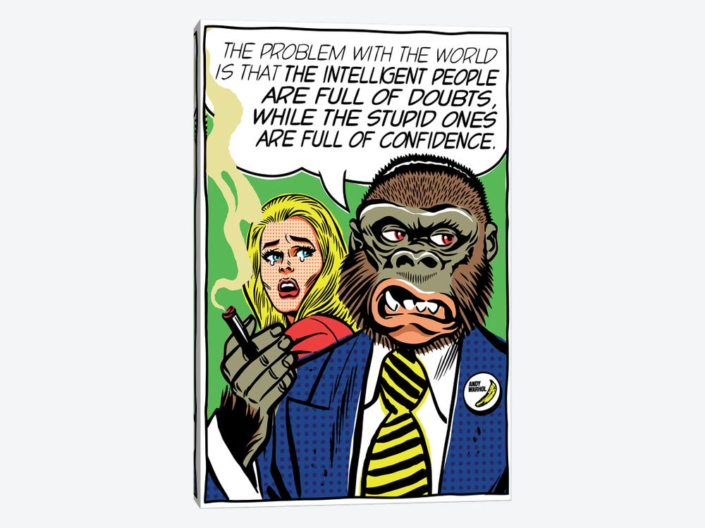 The Problem With The World by Butcher Billy 1-piece Canvas Print
