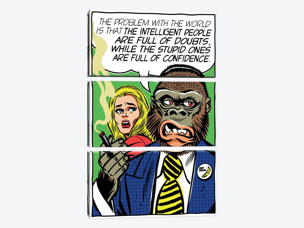 The Problem With The World by Butcher Billy 3-piece Canvas Art Print