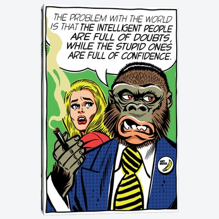 The Problem With The World Canvas Print #BBY157} by Butcher Billy Canvas Artwork