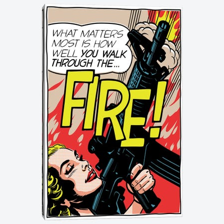 Walk Through The Fire Canvas Print #BBY160} by Butcher Billy Canvas Wall Art