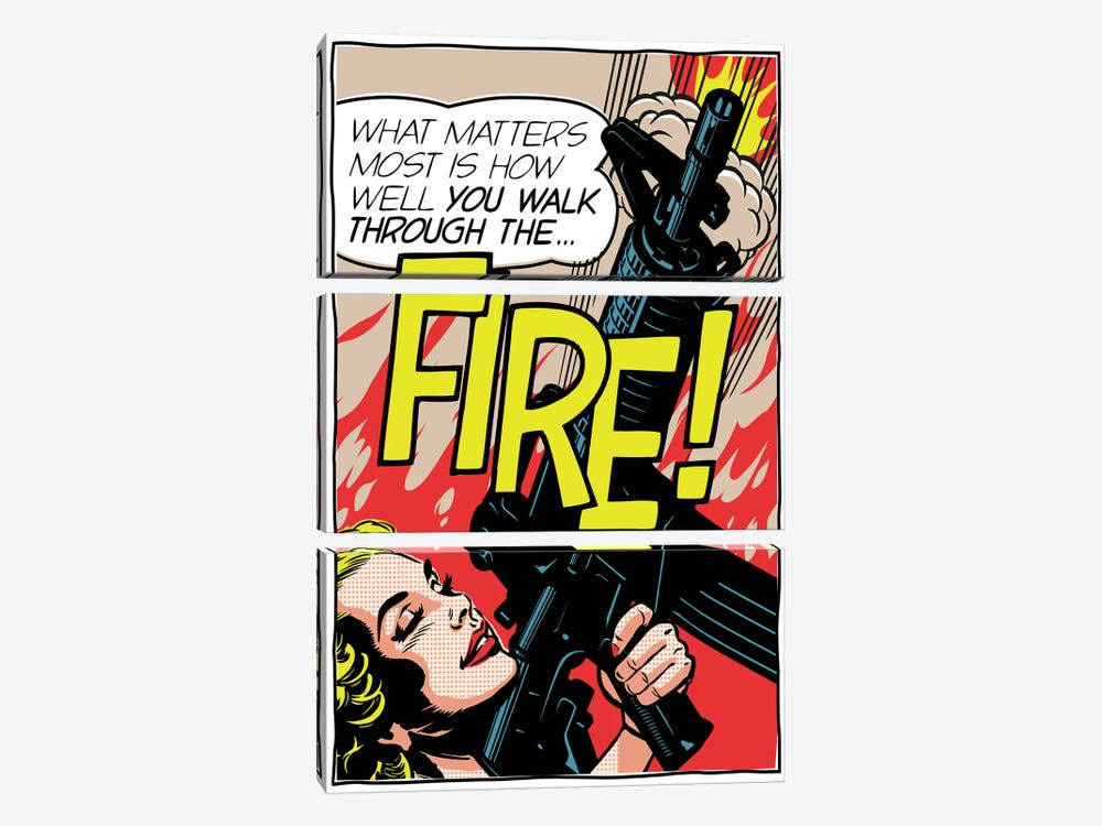 Walk Through The Fire by Butcher Billy 3-piece Canvas Art Print