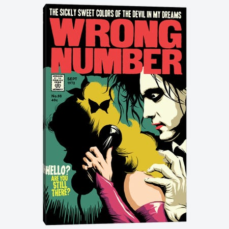 Wrong Number Canvas Print #BBY162} by Butcher Billy Canvas Wall Art