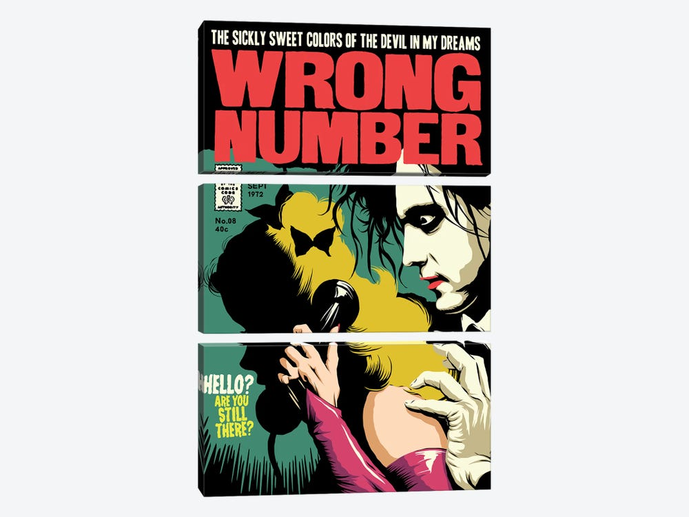 Wrong Number 3-piece Art Print