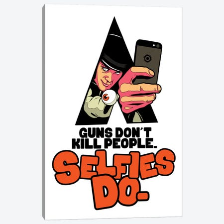 A Clockwork Selfie Canvas Print #BBY164} by Butcher Billy Canvas Art Print