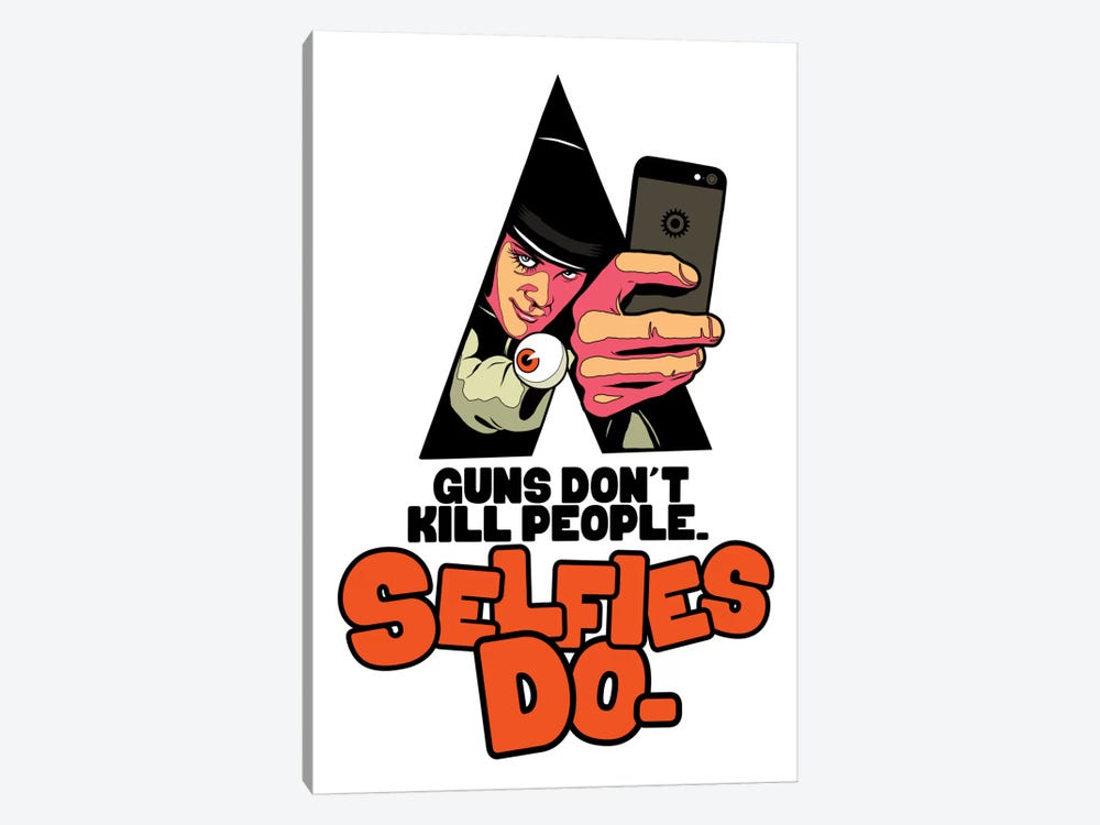A Clockwork Selfie by Butcher Billy 1-piece Canvas Art Print