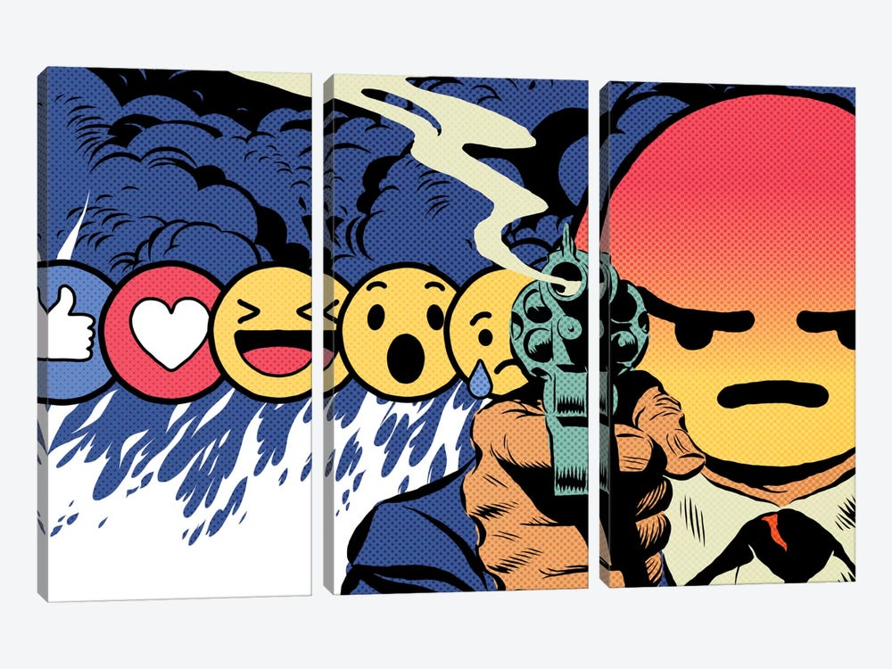 Angry by Butcher Billy 3-piece Canvas Print