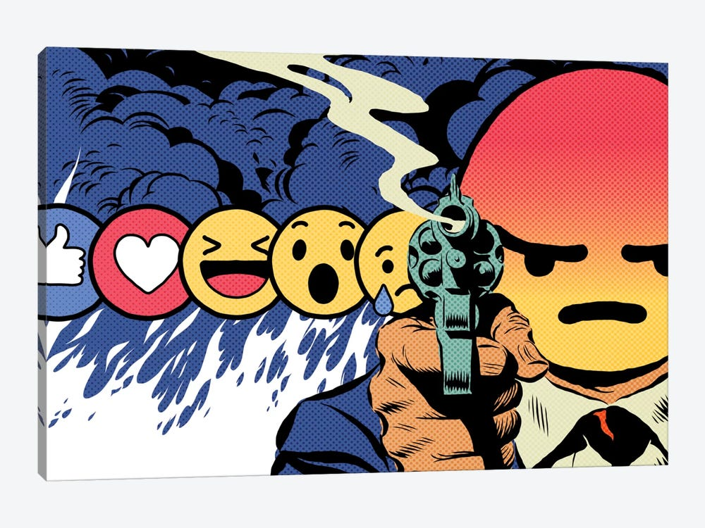 Angry by Butcher Billy 1-piece Canvas Art Print