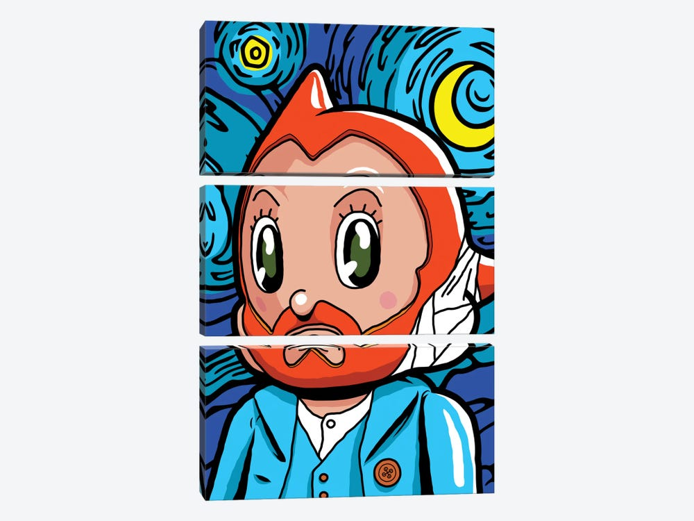 Astro Night by Butcher Billy 3-piece Canvas Artwork