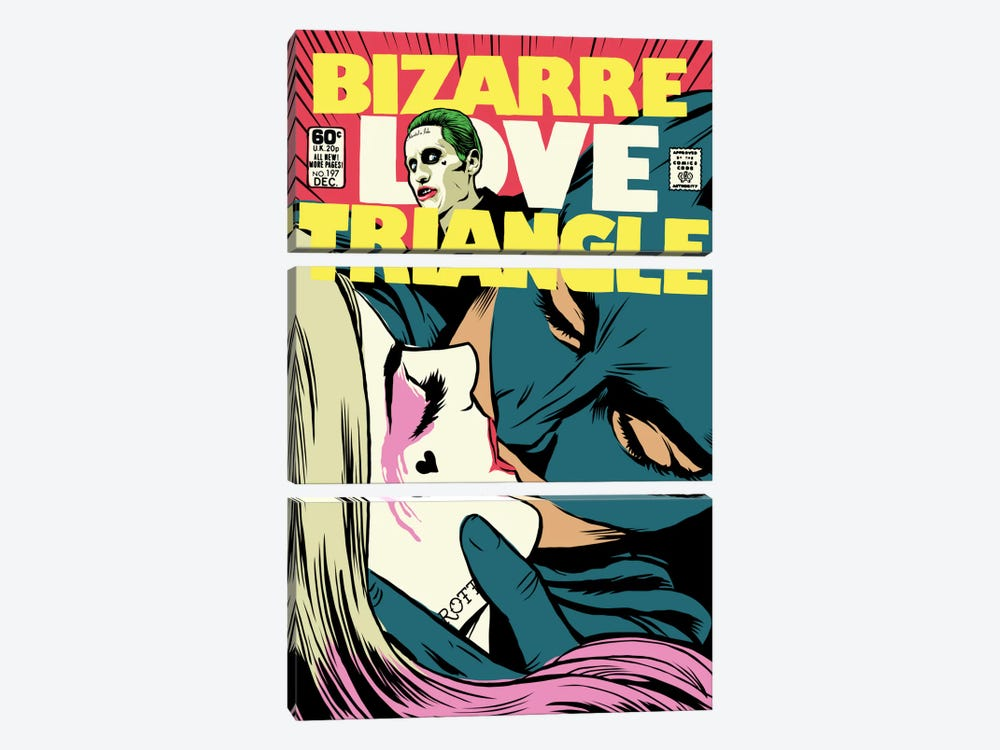 Bizarre Love Triangle - Suicide Edition by Butcher Billy 3-piece Canvas Art Print