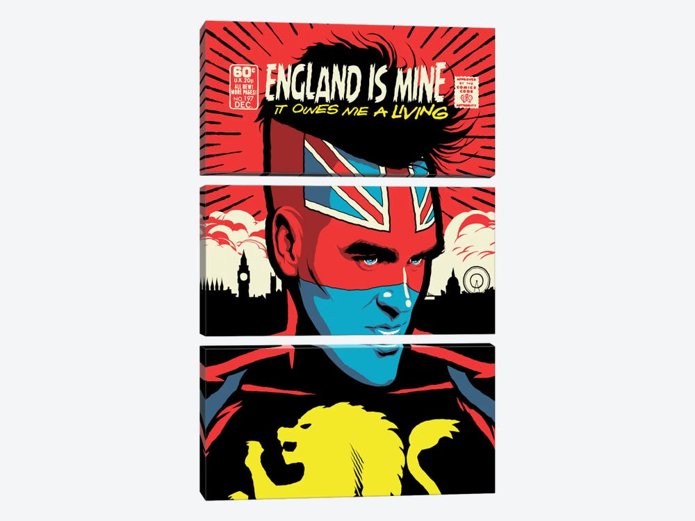 England Is Mine by Butcher Billy 3-piece Art Print