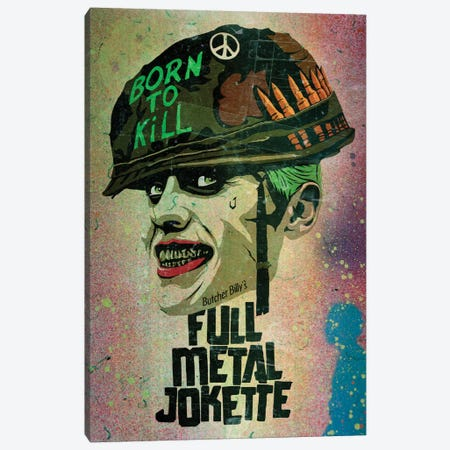 Full Metal Jokette Canvas Print #BBY175} by Butcher Billy Canvas Wall Art