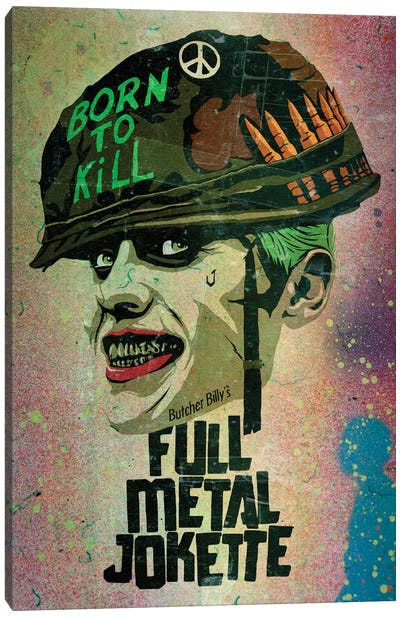 Full Metal Jokette Canvas Art Print