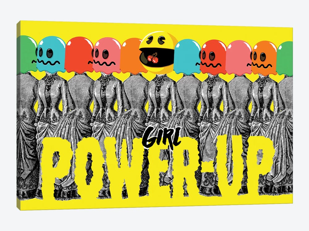 Girl Power-Up by Butcher Billy 1-piece Canvas Art