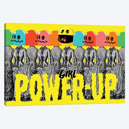 Girl Power-Up Canvas Print #BBY176} by Butcher Billy Canvas Art