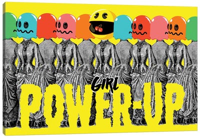 Girl Power-Up Canvas Art Print