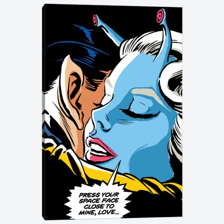 Interracial Love Canvas Print #BBY180} by Butcher Billy Canvas Artwork