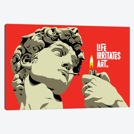 Life Irritates Art Canvas Print #BBY182} by Butcher Billy Canvas Art