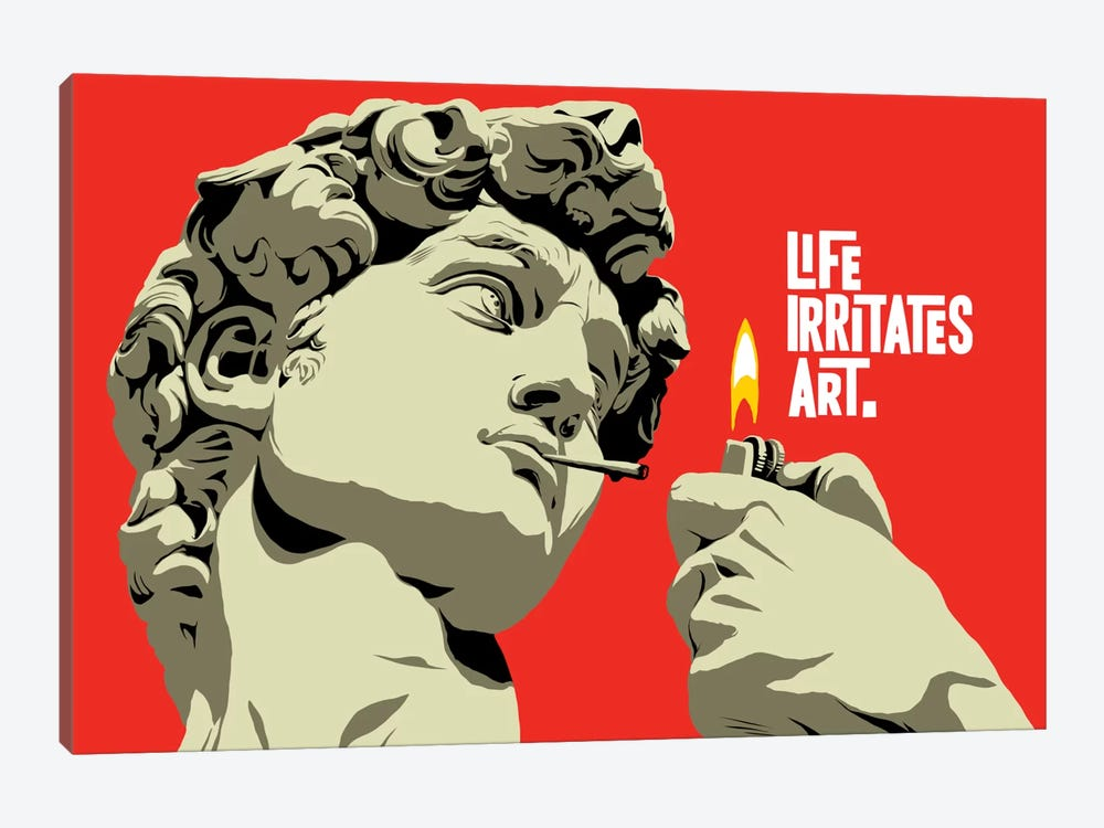 Life Irritates Art by Butcher Billy 1-piece Canvas Art Print