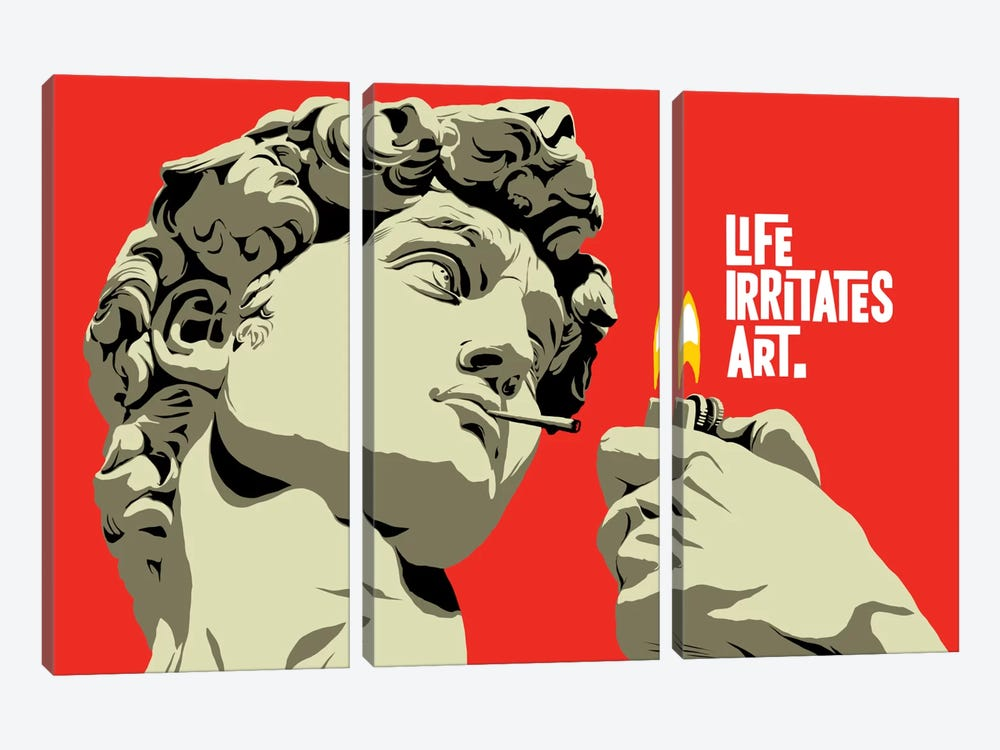 Life Irritates Art by Butcher Billy 3-piece Art Print
