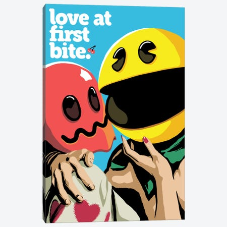 Love At First Bite Canvas Print #BBY184} by Butcher Billy Canvas Art Print