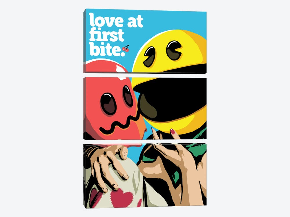 Love At First Bite by Butcher Billy 3-piece Canvas Art Print