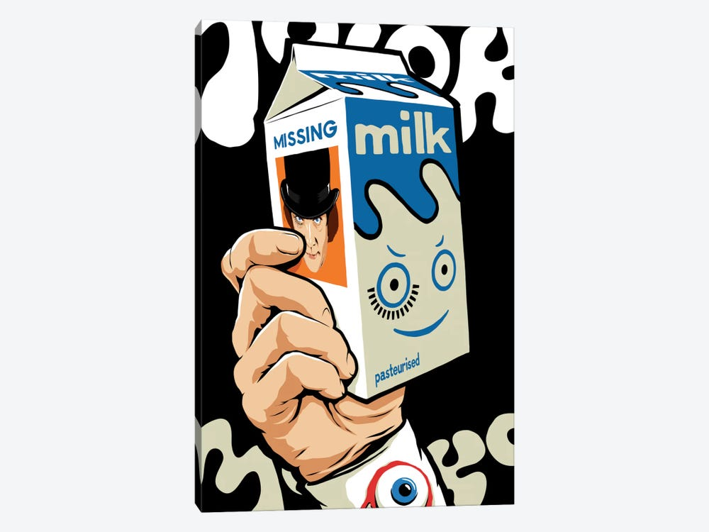 Milk And TV by Butcher Billy 1-piece Canvas Art